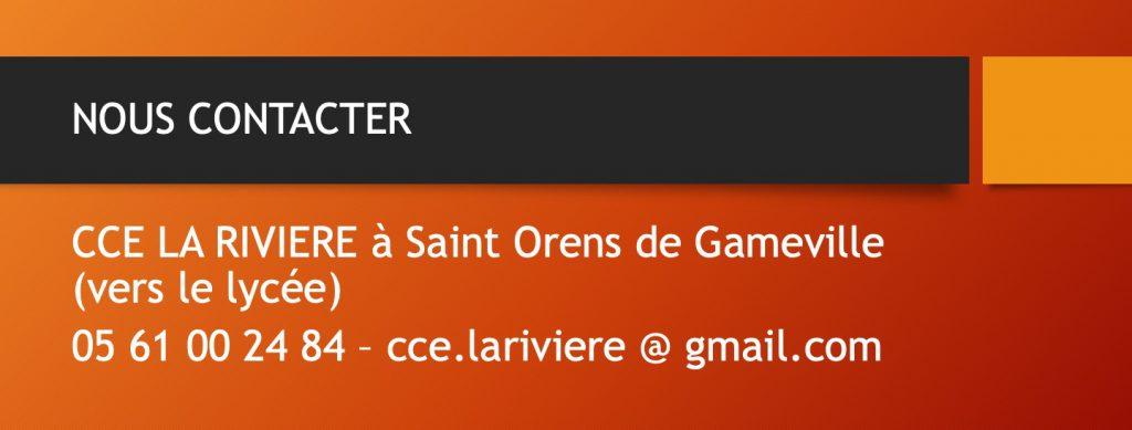 Addresse et contact CCE-LaRivière